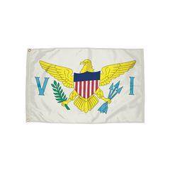FLAGZONE 3X5 NYLON US VIRGIN ISLAND FLAG HEADING & GROMMETS