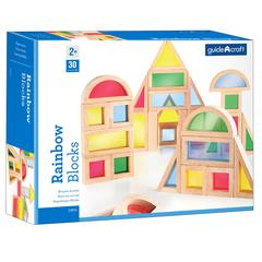 GUIDECRAFT USA RAINBOW BLOCKS 30 ASST SHAPES