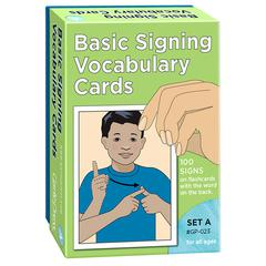 IPG BOOK BASIC SIGNING VOCAB CARDS SET A 100/PK 4 X 6