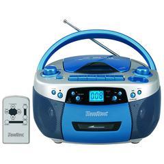 HAMILTON ELECTRONICS VCOM BOOM BOX USB PORT CD MP3 PLAYER CASSETTE RECORDER AM FM RADIO