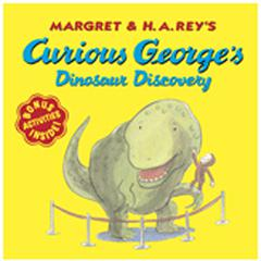 HOUGHTON MIFFLIN CARRY ALONG BOOK & CD CURIOUS GEORGE DINOSAUR DISC