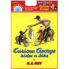 CARRY ALONG BOOK & CD CURIOUS GEORGE RIDES A BIKE