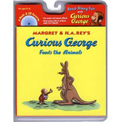 HOUGHTON MIFFLIN CURIOUS GEORGE FEEDS THE ANIMALS CARRY ALONG BOOK & CD