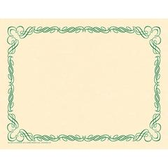 ARABESQUE BORDER PAPER GREEN