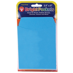 HYGLOSS PRODUCTS BRIGHT STICKY BACK 300CT ASSORTED COLORS LIBRARY POCKETS