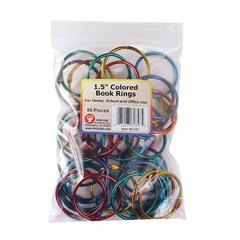 HYGLOSS PRODUCTS BOOK RINGS 1-1/2IN 50 PER PACK
