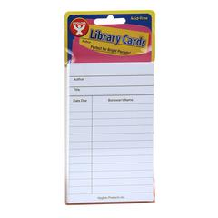 HYGLOSS PRODUCTS BRIGHT LIBRARY CARDS WHITE 500 CT