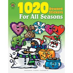 CARSON DELLOSA STICKER BOOK FOR ALL SEASONS 1020PK