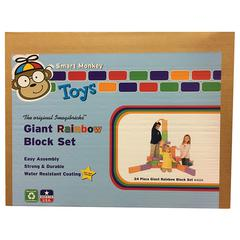SMART MONKEY IMAGIBRICKS RAINBOW BLOCKS 24 PC SET