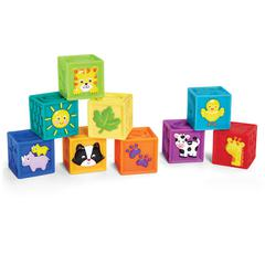 INTERNATIONAL PLAYTHINGS SQUEAK N STACK BABY BLOCKS
