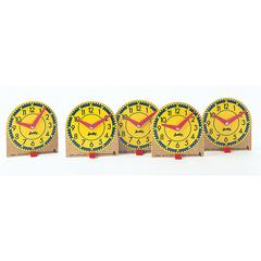 CARSON DELLOSA ORIGINAL MINI CLOCKS 12-PK WOOD