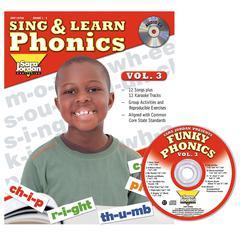 SARA JORDAN PUBLISHING SING & LEARN PHONICS BOOK CD VOL 3
