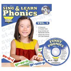 SARA JORDAN PUBLISHING SING & LEARN PHONICS BOOK CD VOL 4