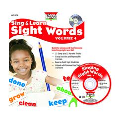 SING & LEARN SIGHT WORDS BOOK CD 4