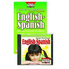 SARA JORDAN PUBLISHING BILINGUAL PRESCHOOL ENGLISH-SPANISH CD/BOOK