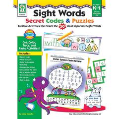 SIGHT WORDS SECRET CODES & PUZZLES BOOK AGE 5+