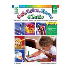 CUT COLOR TRACE & PASTE BOOK AGE 4+ SPECIAL EDUCATION