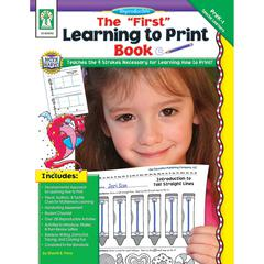 CARSON DELLOSA THE FIRST LEARNING TO PRINT BOOK GR GR PK-K