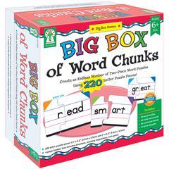 CARSON DELLOSA BIG BOX OF WORD CHUNKS GAME AGE 6+
