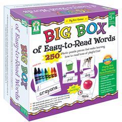 CARSON DELLOSA BIG BOX OF EASY TO READ WORDS GAME AGE 5+ SPECIAL EDUCATION