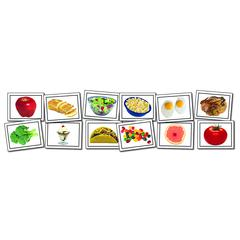 PHOTOGRAPHIC LEARNING CARDS NOUNS FOOD