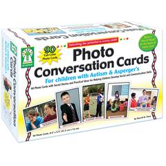 CARSON DELLOSA PHOTO CONVERSATION CARDS FOR CHILDREN WITH AUTISM AND ASPERGERS