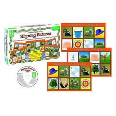 CARSON DELLOSA RHYMING PICTURES MANIPULATIVES LISTENING LOTTO AGE 4 & UP