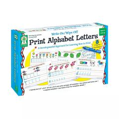 WRITE ON/WIPE OFF PRINT ALPHABET LETTERS