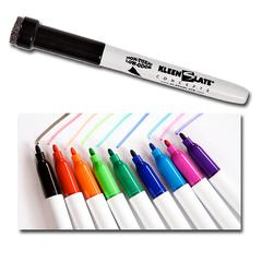 KLEENSLATE CONCEPTS STUDENT MARKERS WITH ERASERS 10PK ASSORTED COLORS
