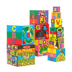MELISSA & DOUG ALPHABET NESTING & STACKING BLOCKS