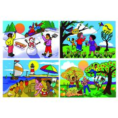 MELISSA & DOUG SEASONS FLOOR PUZZLE