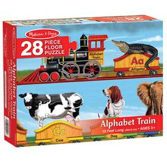 MELISSA & DOUG FLOOR PUZZLE ALPHABET TRAIN