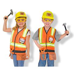 MELISSA & DOUG ROLE PLAY CONSTRUCTION WORKER COSTUME SET