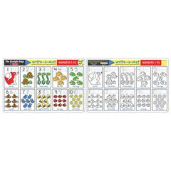 MELISSA & DOUG NUMBERS 1-10 WRITE A MAT 6PK