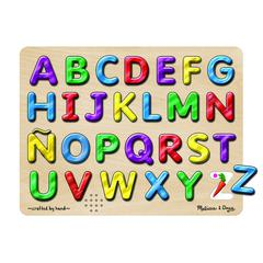 MELISSA & DOUG SPANISH ALPHABET SOUND PUZZLE 27PCS