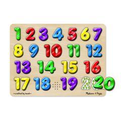 MELISSA & DOUG SPANISH NUMBERS SOUND PUZZLE 20 PCS