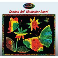 SCRATCH-ART BOARD 30 SHT MULTI COLOR SOFT-SCRATCH BOARD
