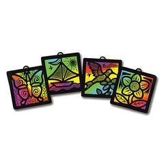 MELISSA & DOUG SCRATCH-ART LIGHT CATCHER GROUP PK