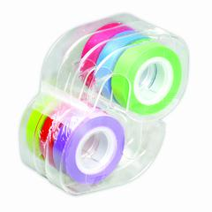 LEE PRODUCTS REMOVABLE HIGHLIGHTER TAPE 1 ROLL EACH OF SIX COLORS