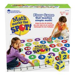 LEARNING RESOURCES MATH MARKS THE SPOT A MATH ACTIVITY