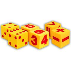 GIANT SOFT CUBE SET 6/PK 1 EACH 2096 0411 0412