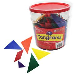 LEARNING RESOURCES TANGRAMS CLASSPK 6 COLORS 30 TANGRAMS IN BUCKET