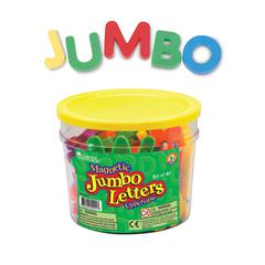 LEARNING RESOURCES JUMBO MAGNETIC LETTERS 40/PK UPPERCASE 2-1/2 BUCKET