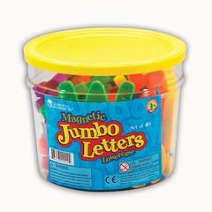 LEARNING RESOURCES JUMBO MAGNETIC LETTERS 40/PK LOWERCASE 2-1/2 BUCKET