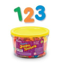 LEARNING RESOURCES JUMBO MAGNETIC NUMBERS 36/PK OPERATIONS 2-1/2 BUCKET
