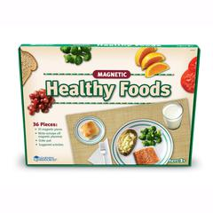 LEARNING RESOURCES MAGNETIC HEALTHY FOODS 34 PCS W/ PLACEMAT
