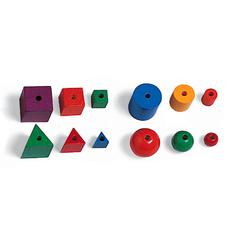 LEARNING RESOURCES ATTRIBUTE BEADS 144/PK 4 SHAPES 3 SIZES
