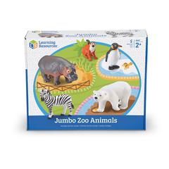JUMBO ZOO ANIMALS 5/SET