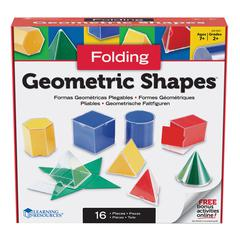 LEARNING RESOURCES FOLDING GEOMETRIC SOLIDS