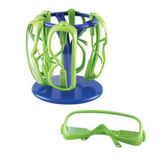 LEARNING RESOURCES PRIMARY SCIENCE SAFETY GLASSES 6 SET IN A STAND